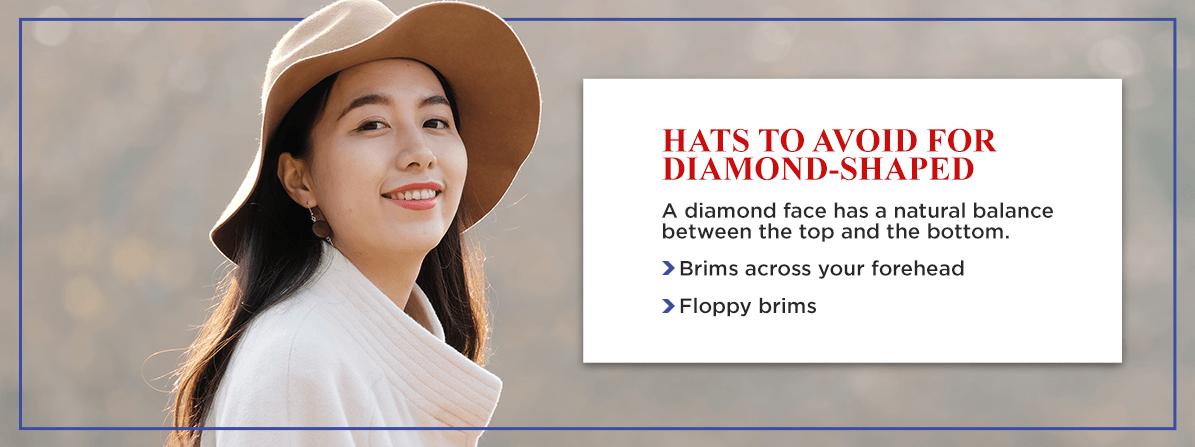 diamond shaped faces